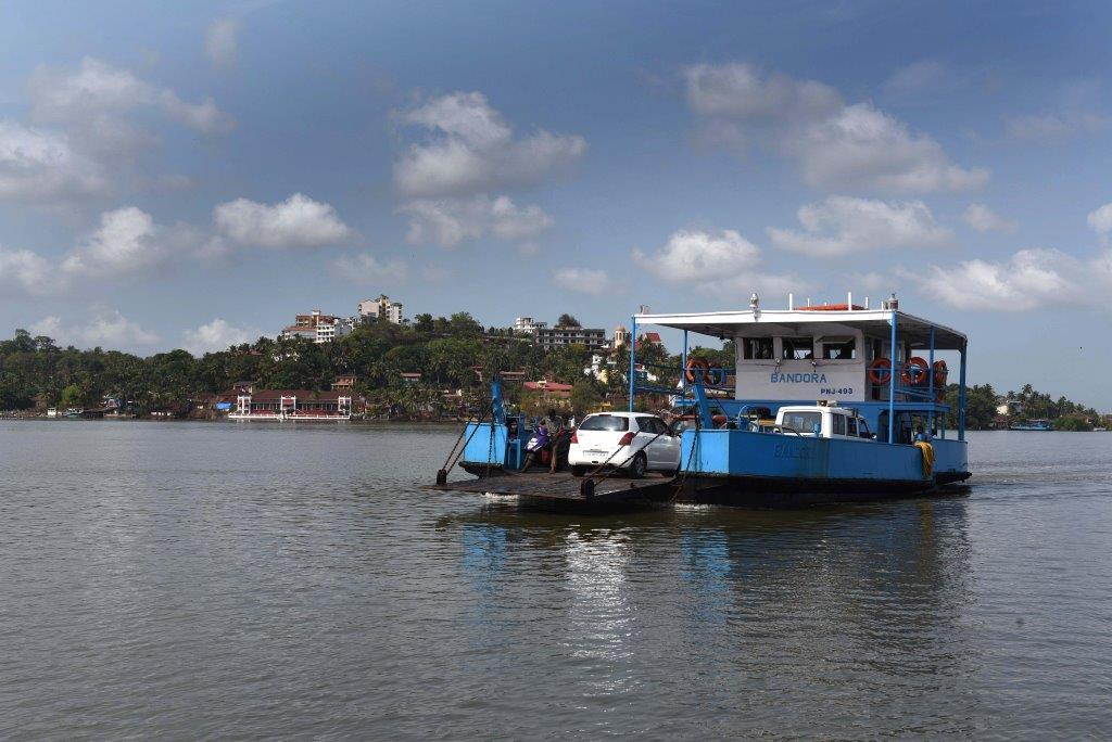 How to reach - Ferry from Ribandar to Chorao
